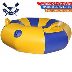 Тюбинг плюшка надувные санки ватрушка 90х30 см до 120 кг из лодочного ПВХ 850 переходник д/насоса в комплекте