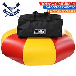 Комплект: тюбинг плюшка надувные санки ватрушка 90х30см до 120кг лодочный ПВХ 850 + сумка + переходник д/насос