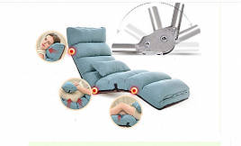"""Раскладное кресло """"Relax"""" для отдыха домой, в офис и на дачу. Голубое. (C1)"""