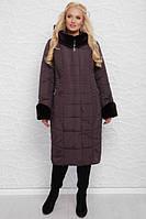Стеганое пальто зимнее женское «Алисия» (52, 54, 56, 58, 60 | Жемчужное, лиловое, морская волна, мокко, синее)