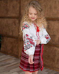 Вишиванка для дівчинки в стилі бохо Жарптиця