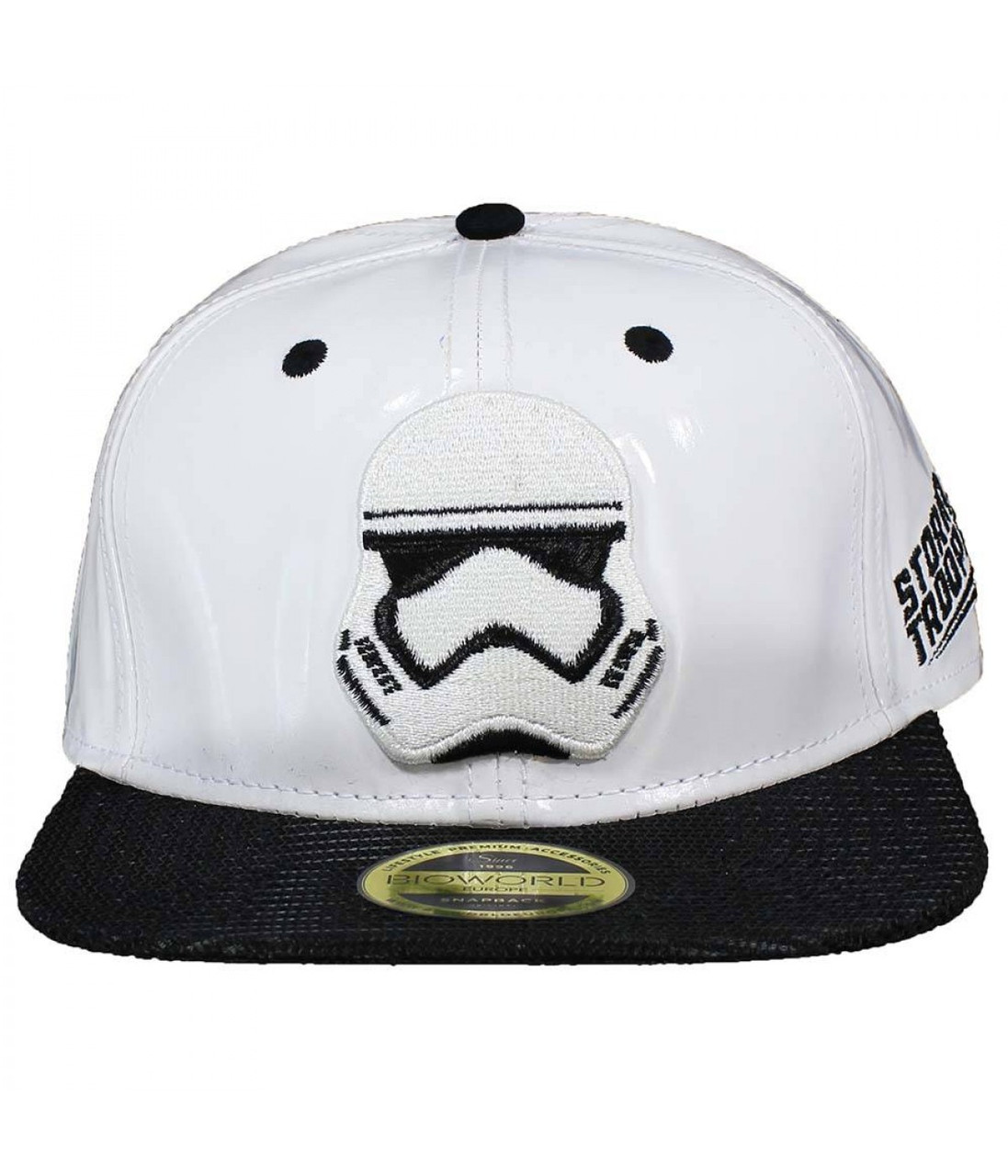 Офіційний снепбек Star Wars - White Snap back With Storm Trooper Embroidery And Black Bill