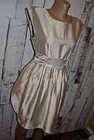 Платье S/M, нарядное платье, коктейльное платье, деловое платье, бежевое платье, нарядный сарафан, платье