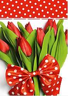 Подарочный пакет БОЛЬШОЙ ВЕРТИКАЛЬНЫЙ ''Букет весна'' 25*37*8 см