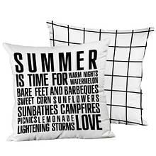 Подушка интерьерная шелк размер 45*45 см Summer