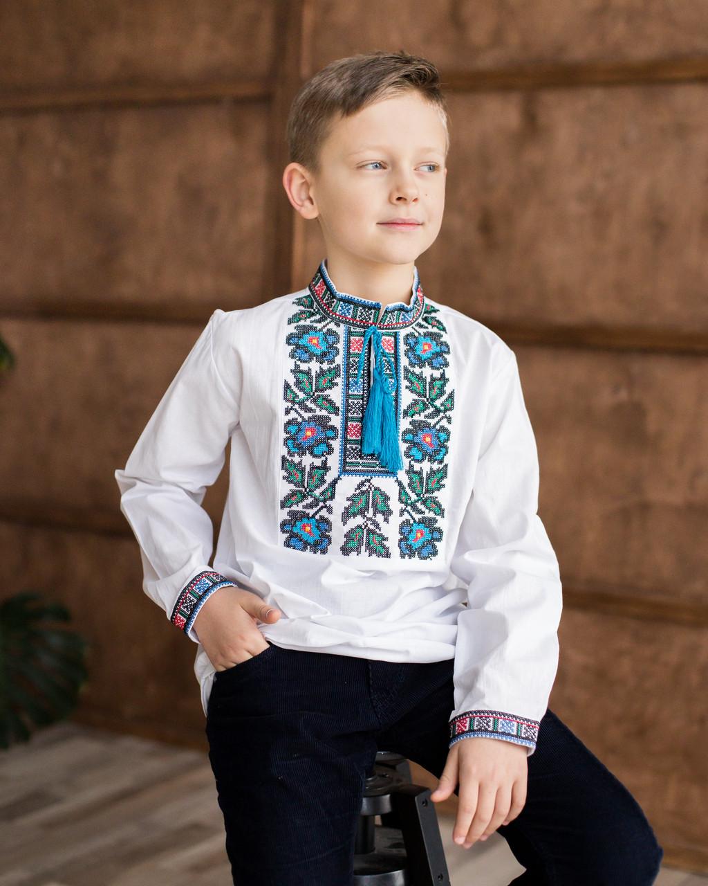 Дитяча вишиванка для хлопчика борщівська
