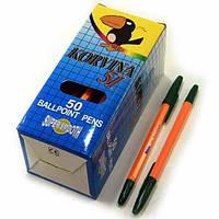 Ручка шариковая CORVINA (Winxuan) зеленая 50шт