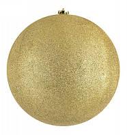 Елочный шар 25 см с блестками ABX 8585 Золото