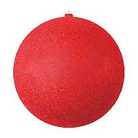 Елочный шар с блестками 25 см ABX 8585 Красный