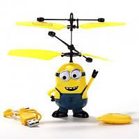 Летающая игрушка с пультом Airset Летающий Миньон Р388 Желтый