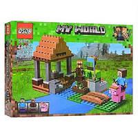 """Конструктор QS08 44083 (Аналог Lego Minecraft 21138) """"Арбузная ферма""""199 деталей, фото 1"""
