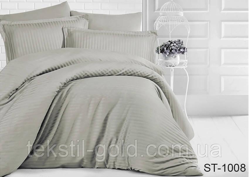 Семейный комплект постельного белья ST-1008 страйп-сатин (Наволочки 4 шт) ТМ TAG