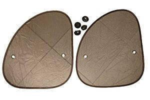 Шторки на боковые стекла на присосках TH-204S косые (пара)