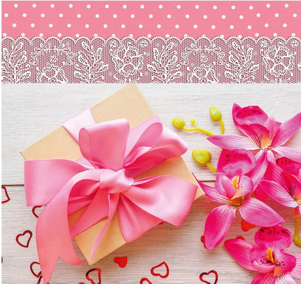 Подарочный бумажный пакет КВАДРАТ 24*24*10 см Подарочек