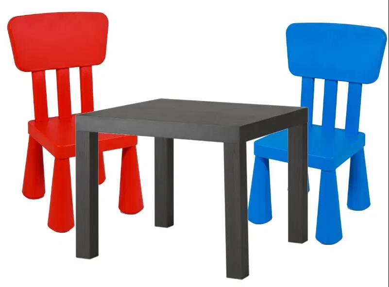 Детский столик IKEA LACK + 2 кресла MAMUT