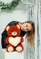 """Мягкая плюшевая игрушка медвежонок """"Фрэнк"""" 65см. Цвет Коричневый.  Подарок для любимой"""