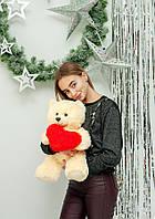 """Мягкая плюшевая игрушка медвежонок """"Фрэнк"""" 65см. Цвет Кремовый.  Подарок для любимой"""
