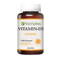 Диетическая добавка Витамин D3 Nutriplus пр-ва Турция 60 кап - 11,23 ББ / Far - 9700547