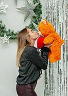 """Мягкая плюшевая игрушка медвежонок """"Фрэнк"""" 65см. Цвет Мандариновый.  Подарок для любимой"""