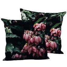 Подушка шелк интерьерная декоративная, размер 45*45 см