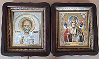 Икона церковная Николай Чудотворец (в митре и без) 21х24см, фото 1