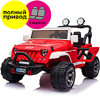Двухместный детский электромобиль Jeep Wrangler style (SX1718 MP3 red)