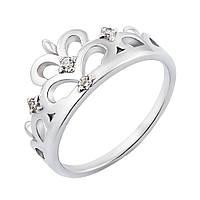 Серебряное кольцо-корона с фианитами 000119289 000119289 16 размер