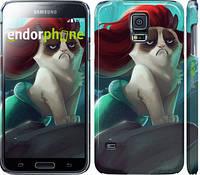 "Чехол на Samsung Galaxy S5 g900h Grumpy cat ""2936c-24"""