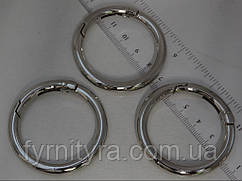 Карабин - кольцо d40мм никель 6мм