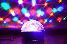 Диско шар с mp3. Разноцветный диско шар с МП3 плеером. LED Magic Ball Light MP3 С кнопками +Пульт + флешка, фото 3