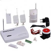 Сигнализация для дома с датчиком движения комплект GSM ABX Security Alarm System JYX-G200