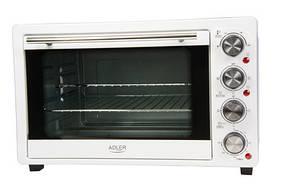 Электрическая духовка 1500W печь Adler AD 6001 35л Белый