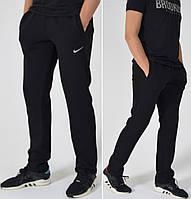 Утепленные мужские спортивные штаны Nike (Найк) / Трикотаж трехнитка с начесом / Размеры:46-54 - черные