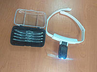 Лупа-окуляри бінокулярні налобні ТН-9201 з підсвічуванням, фото 1