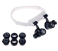 Бінокулярні лупа-окуляри зі світлодіодним підсвічуванням ТН-9202 Magnifier Китай, фото 1