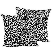 Подушка шелк декоративная интерьерная, размер 45*45 см Гепард
