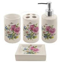 Набор аксессуаров 4 предмета для ванной Stenson R22345 Fleurs