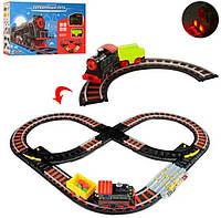 Железная дорога SW7109: рельсы, паровоз, знаки - детский игровой набор