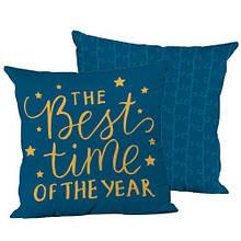Декоративная подушка шелк интерьерная размер 45*45 см Best time