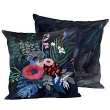 Декоративная подушка шелк интерьерная размер 45*45 см Цветы 05
