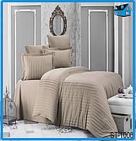 Семейное постельное белье Страйп Сатин