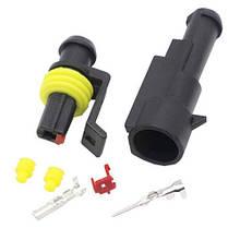 Разъем автомобильный электрический герметичный DJ7011-1.5 комплект 1pin