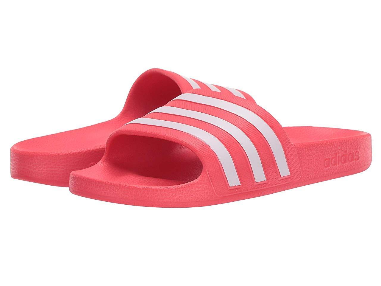 Сандали/Вьетнамки adidas Adilette Aqua Shock Red/Footwear White/Shock Red