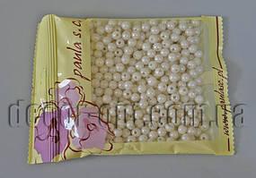 Намисто молочні перл. 6 мм 50 гр АВ122