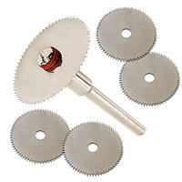 Набор из 5 отрезных кругов, дисковых пил 22мм для дремеля гравера