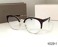 Имиджевые стильные очки cat eye 977 коричневые