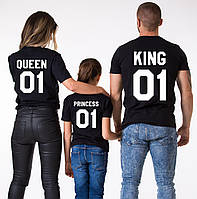 Футболки Семейные Queen King And Princess