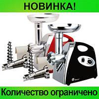 Электрическая мясорубка-соковыжималка Domotec MS-2019 B/R 2400Вт!Розница и Опт