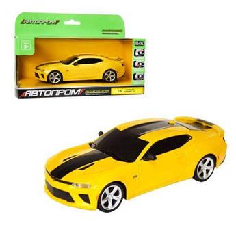 Машинка Chevrolet Camaro из серии Автопром (желтая) 7608