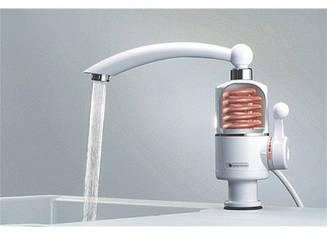 Проточный электрический водонагреватель кран на мойку мини бойлер